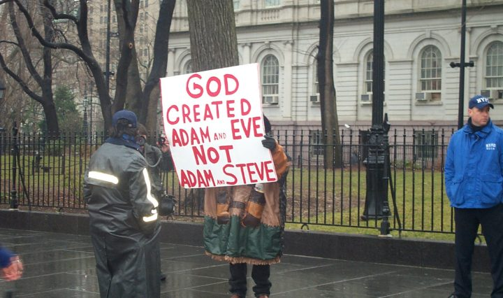 anti-gay-marriage protester
