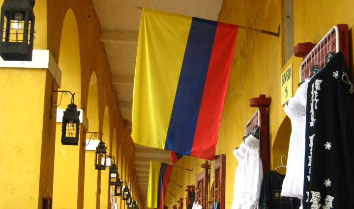 Flag in Cartagena Colombia