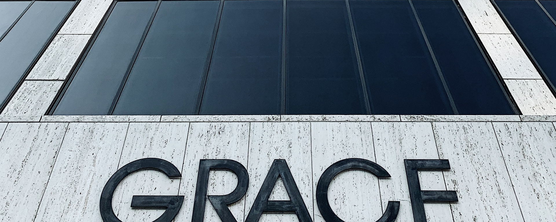"""Buidling that says """"Grace"""" on it."""